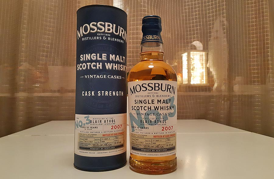Mossburn Blair Athol 10 Year Old 2007 Cask Strength Single Malt Review
