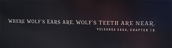 Where wolf's ears are, wolf's teeth are near