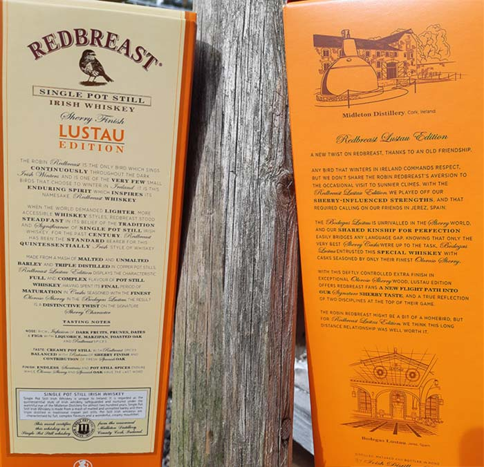 Redbreast Lustau Edition's whiskey package