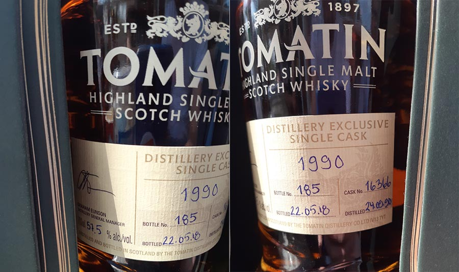 Tomatin distilled 1990, bottled 2018 - Single Cask Distillery Exclusive