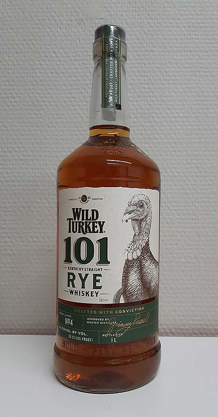Wild Turkey 101 Straight Rye Whiskey from Kentucky - Review and tasting notes