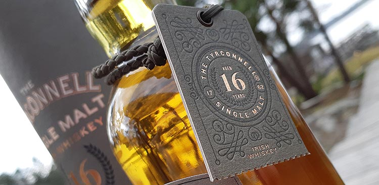 Bottle card of Tyrconnell whiskey
