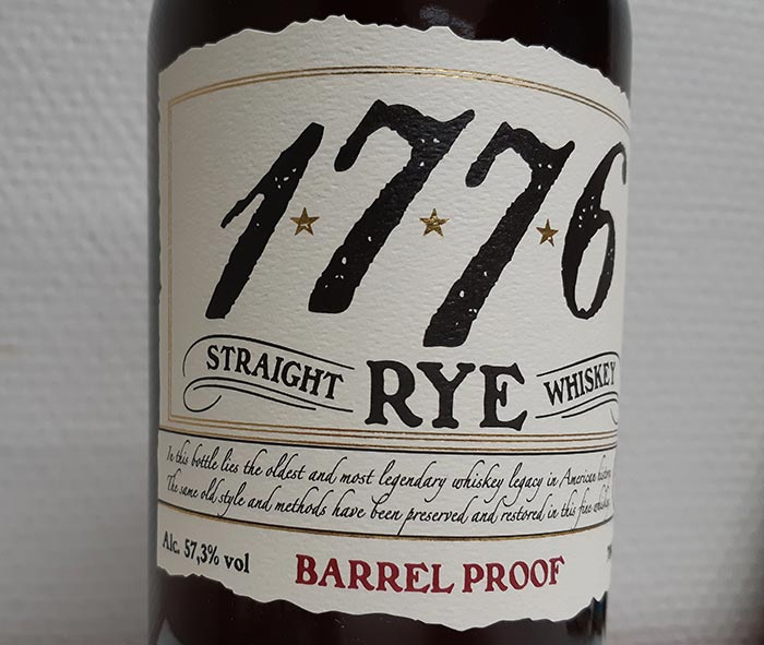 Cask Strength 1776 Rye Whiskey