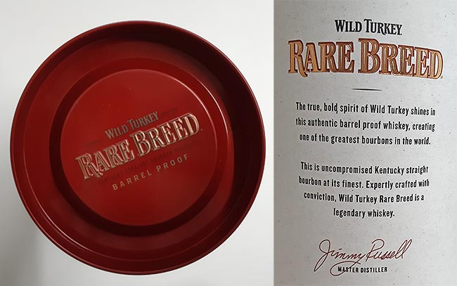 Rare Breed the Cask Strength version of Wild Turkey bourbon