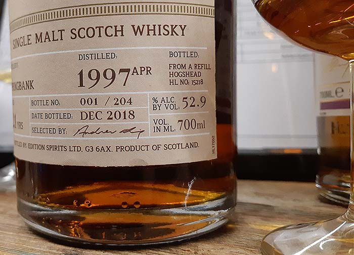 Refill Hogshead ex-sherry single cask matured Spingbank