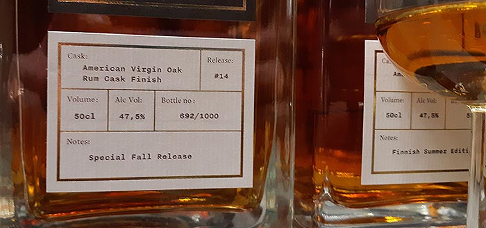 Release #14 | Bottle no 692/1000 | Helsinki Whiskey Rye Malt