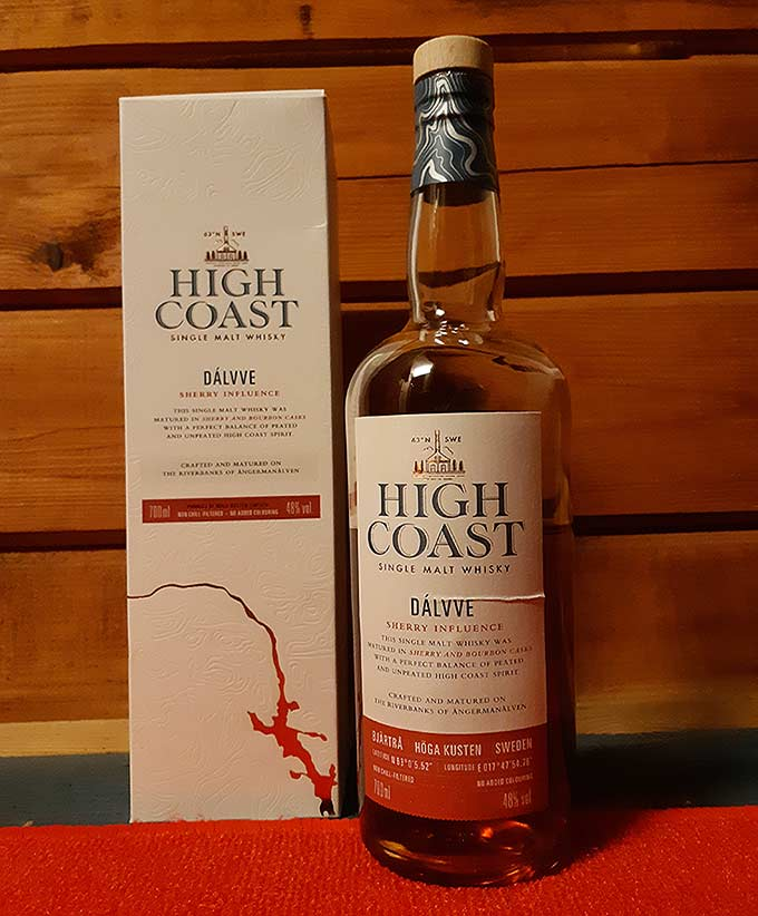 High Coast Dalvve Single Malt Whisky from Box Distillery Sweden