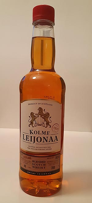 Kolme Leijonaa Blended Scotch Whisky for Finnish retail market