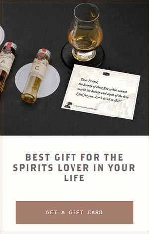 Gift idea for whiskey lovers and enthusiasts