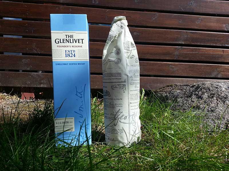 Paper back on Glenlivet single malt whisky