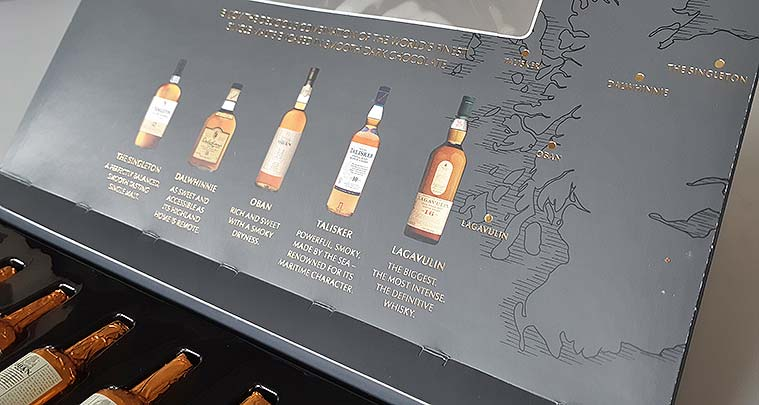 Lagavulin and Talisker whisky used in dark chocolate