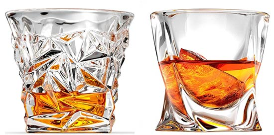Ashcroft diamond cut and twisted whiskey glass