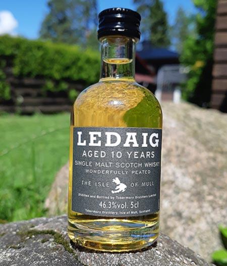 Ledaig 10 year old peated single malt whisky