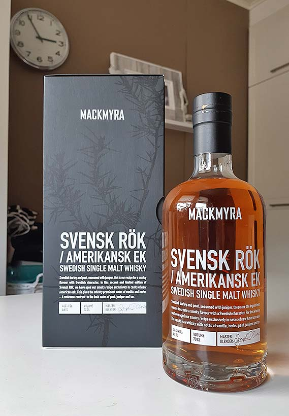 Mackmyra Svensk Rök Amerikansk Ek single malt whisky review