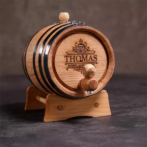 Personalized whiskey aging kit