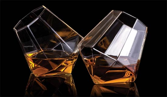Thumbs Up Diamond Shaped Whiskey Glass Set