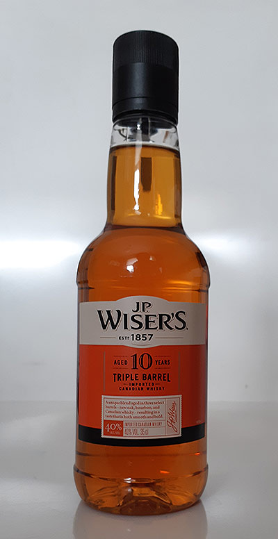 Wiser's 10 year old Triple Barrel Blended Canadian Whisky Review