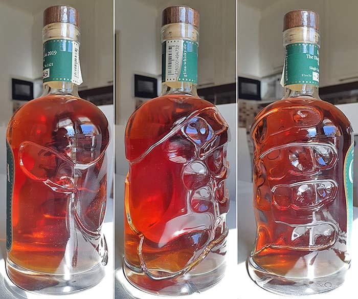 Hand shape in a German whisky bottle by Glina distillery