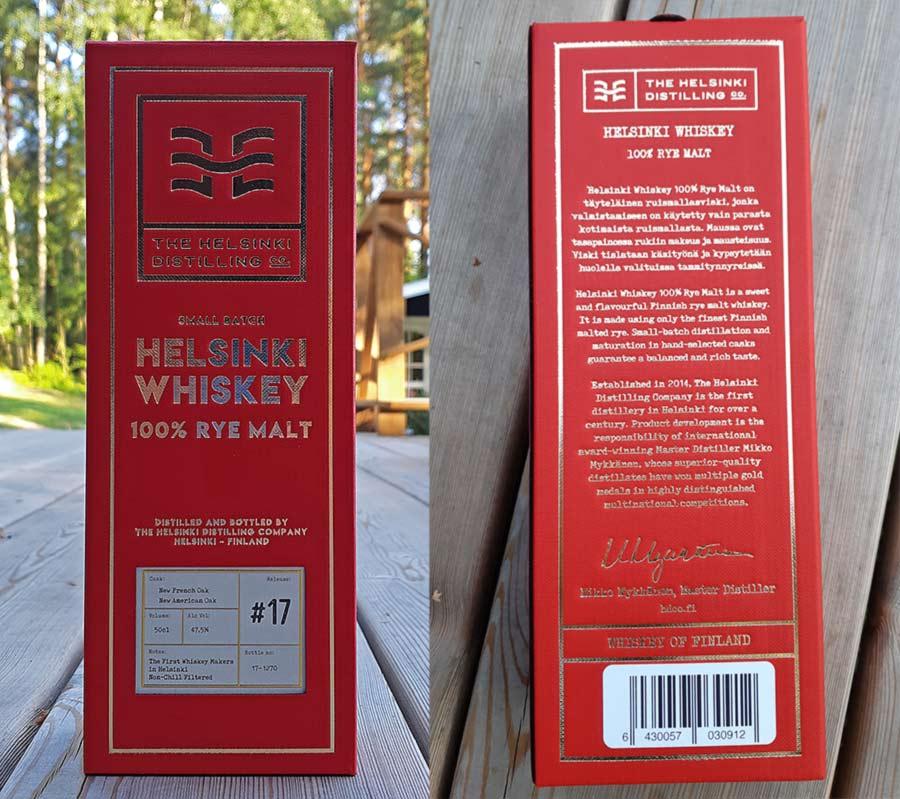 100% Malted Rye Whiskey by Helsinki Distilling Company