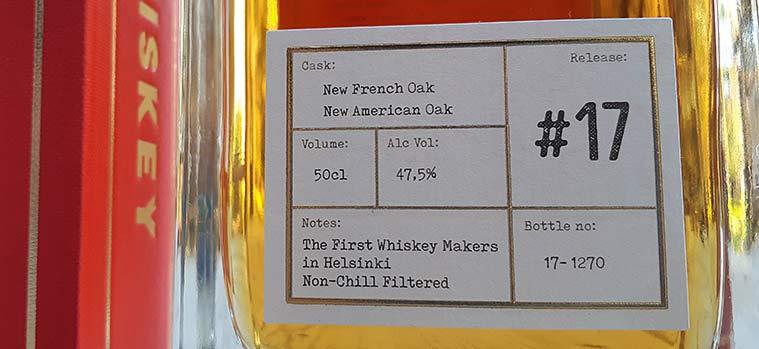Helsinki Whiskey 100% Rye Malt Release #17