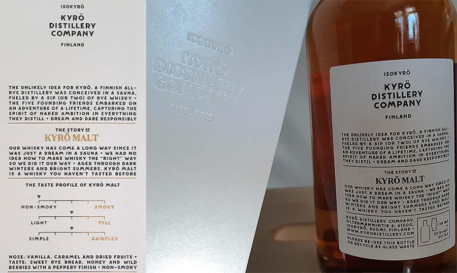 Kyrö Rye Malt Whisky Package