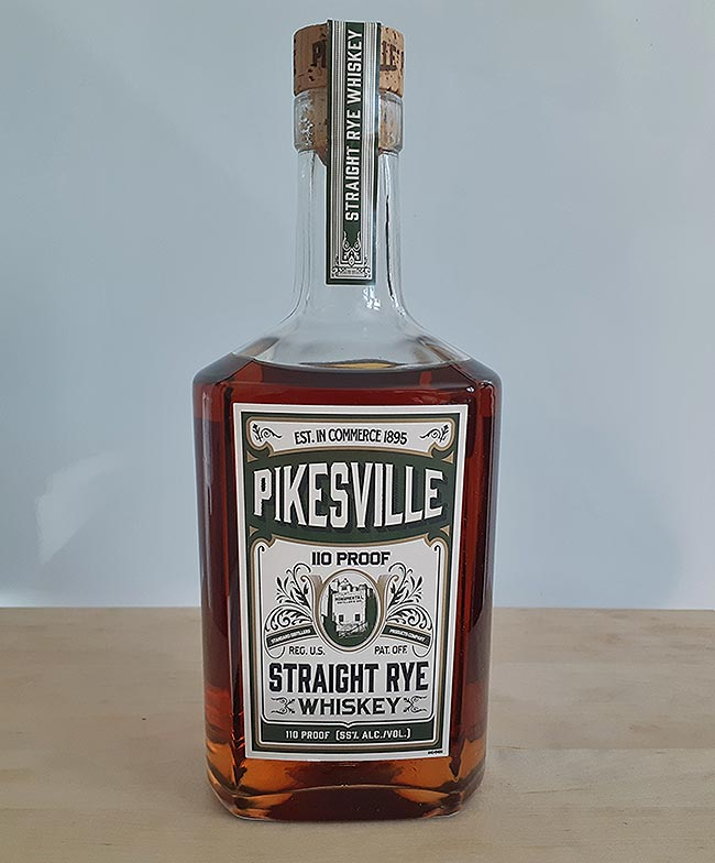 Pikesville 110 Proof 6 year old Straight Rye Whiskey