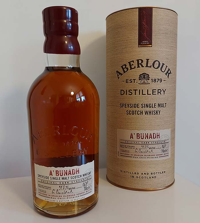 Aberlour A'Bunadh Batch 67 - review of the classic cask strength Speyside single malt whisky