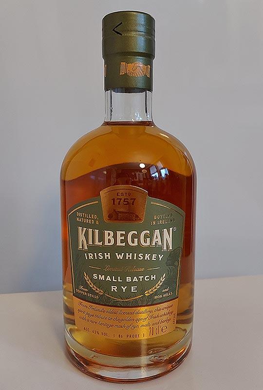 Kilbeggan Small Batch Irish Rye Whiskey