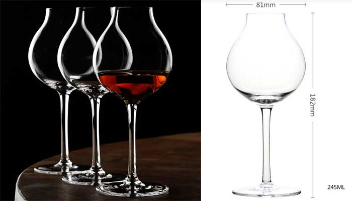 The 1920's Professional Blender's Glass - a modern retro take on nosing glass for whiskey